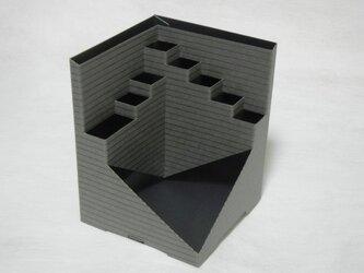 Pen-Cube(ペンキューブ)エンボス ボーダー/ グレイの画像
