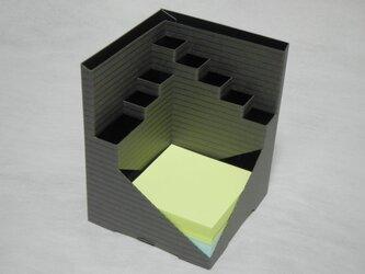 Pen-Cube(ペンキューブ)ボーダーグレイ/メモ300枚付の画像