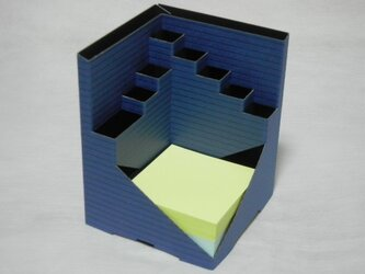 en-Cube(ペンキューブ)ボーダー ネイビー/メモ300枚付の画像