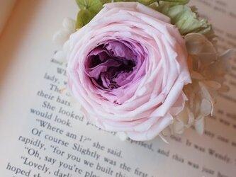カップ咲き*薔薇ヘッドコサージュの画像