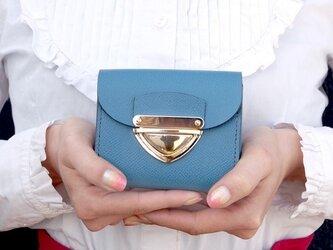 クラッチ・ミニ財布 P式パーティーレザー・ターコイズの画像