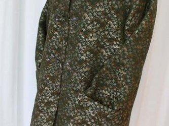 丸帯から豪華なフード付コート 絹の画像