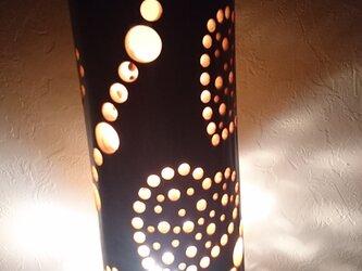 竹灯篭竹アート灯ハートの画像