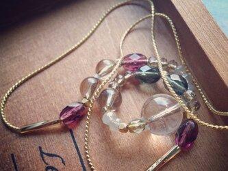 天然石とチェコビーズのネックレスの画像