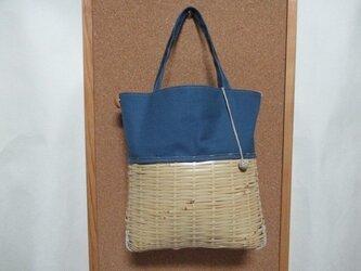 竹と帆布のかばんの画像