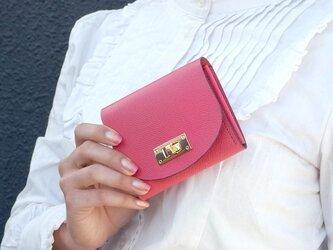 クラッチ・ミニ財布 T式パーティーレザー・ピンクの画像