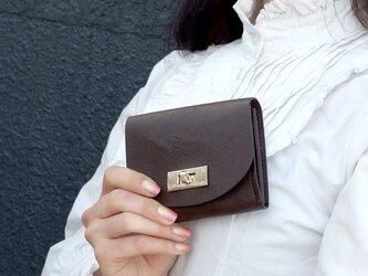 クラッチ・ミニ財布 T式プリズムレザー・チョコの画像