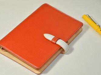 【お好きな色で製作】イタリアンレザー バイブルサイズシステム手帳の画像
