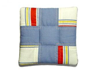 fabric tile (水色×ストライプ)の画像