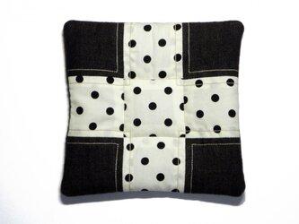 fabric tile (水玉×茶)の画像