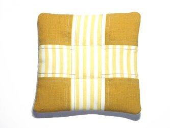 fabric tile (ストライプ×黄)の画像