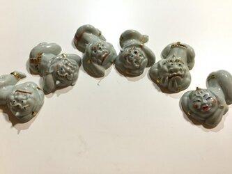 仏教美術。箸置き、ペン置き 邪鬼(3つセット)の画像