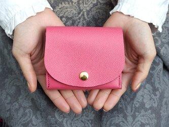 ペアシェイプ・ミニ財布 パーティーレザー・ピンクの画像