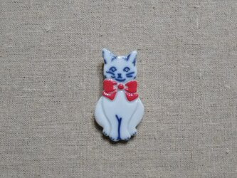 りぼん猫ブローチの画像