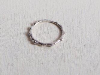 【再販】- Silver - Melting Ringの画像