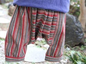 古布 子供服 サルエルパンツ(フリーサイズ)の画像