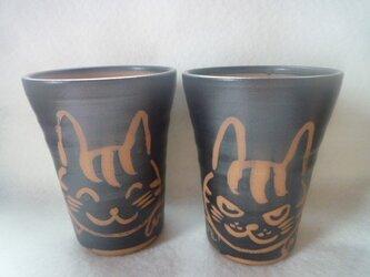 ねこ ビールカップの画像