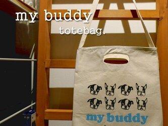 my buddy ショルダートートバッグの画像