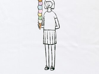 八段アイス・少女の画像