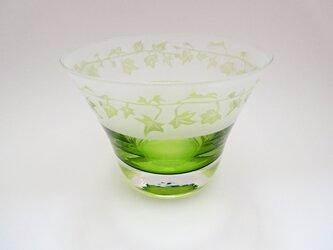 黄緑の内被せグラスの画像