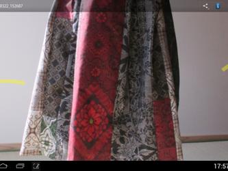エレガントギャザースカートーa  一点品の画像