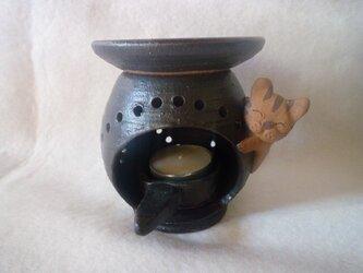 茶香炉 猫の画像