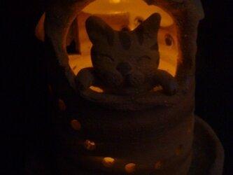 猫ランプシェードの画像