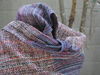 シルク手織ストールI(ラメ糸)の画像