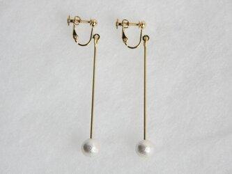 pearl earring [VE-003w]の画像