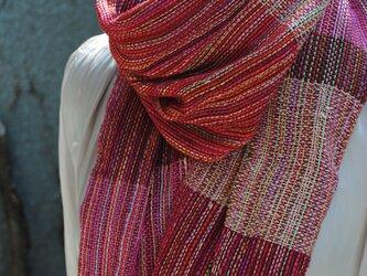 シルク手織ストールJの画像