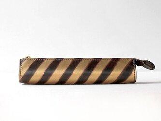 手染めストライプペンケース (CA-018)の画像