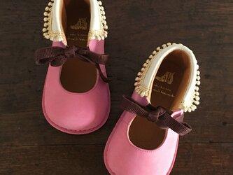 round-collar boots * rose pompadourの画像