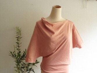 organic supima cotton Prana cut saw 茜色/オーガニックコットンカットソーの画像
