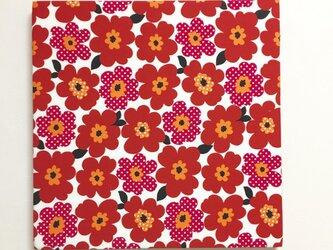 北欧poppyのファブリックパネル*レッド*の画像