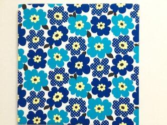 北欧poppyのファブリックパネル*ブルー*の画像
