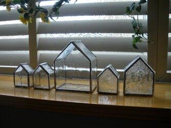 ステンドグラスのおうちセット(クリア)の画像