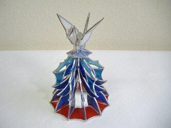 折り鶴(立体ステンドグラス)・正月飾りにも最適!の画像