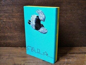wood painting  ★ bird fliesの画像