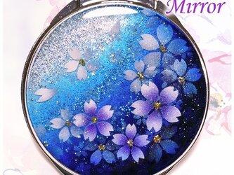 丸ミラー 蒼桜の画像