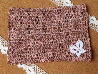 かぎ針編みのティッシュカバーの画像