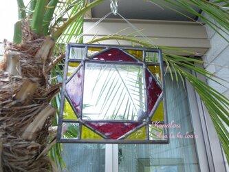ステンドグラスのミニミラー(sun)の画像