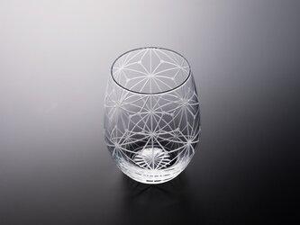 東京切子(花切子)ワイングラス 「千代紙」の画像
