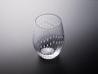 東京切子(花切子)ワイングラス 「花火」の画像
