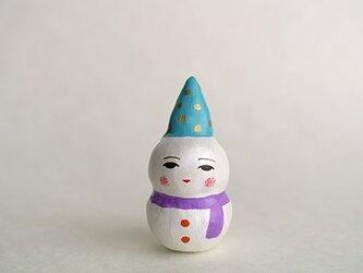 通年の雪だるま人形その2の画像