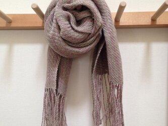 手織りストールの画像