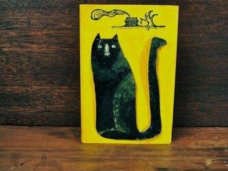 wood painting ★ black catの画像