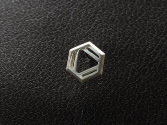 ベンゼン 化学式ピアス®片耳の画像
