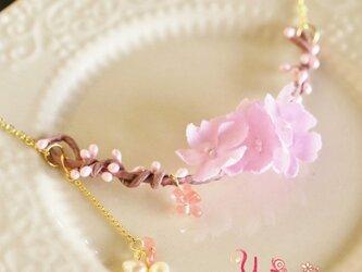 桜ひと枝のネックレスの画像