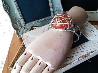 「G様リフォームオーダー琥珀のシルバーバングル」の画像