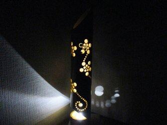 ・インテリア 照明 ハンドメイド 竹灯篭竹アート灯花の画像